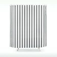ticking stripe shower curtain black and white rose trellis in mattress ticking stripe shower curtain brown