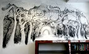 Variations on Alice's Theme (drawings on a wall) by Rhapsody-In-White ...