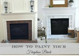 painting fireplace brick how to paint brick fireplace painting brown brick fireplace white