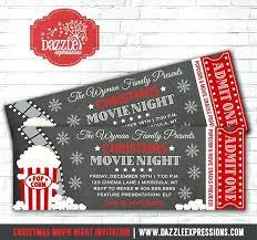 Movie Night Invitation Template Free Movie Ticket Invitation Movie Chalkboard Ticket Invitation Movie
