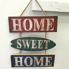 August Grove® Home Sweet Home Wooden Sign Wall Décor