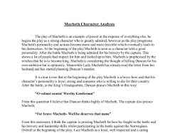macbeth character analysis gcse english marked by teachers com document image preview