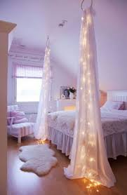 Diy Bed Canopy Best 25 Bed Canopy With Lights Ideas Only On Pinterest Bed