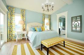 area rug for light hardwood floor bedroom traditional with fl curtains gingham print bench light blue