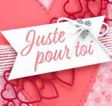 Carte De St Valentin Carte St Valentin Scrapbooking Stampin Up Canada Carterie