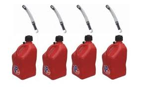 racing gas can. amazon.com: 4 pack vp 5 gallon square red racing utility jugs with deluxe filler hoses: automotive gas can