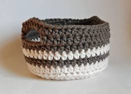 Free Crochet Basket Patterns Fascinating Week 48 Chunky Crocheted Basket A Handmade Year