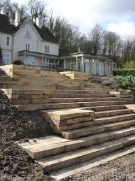 garden design using sleepers. hundreds of inspiring photos and projects using railway sleepers other landscaping materials garden design