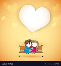 Happy Loving Couple On Love Background Royalty Free Vector