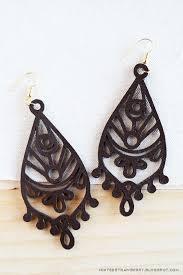 pretty cutout diy leather earrings coloring book style leather earrings mandala