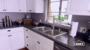 How To Install Formica Countertops With White Wood Cabinets And Floating  White Wood Cabinets Plus Glass Window For Kitchen Design Ideas