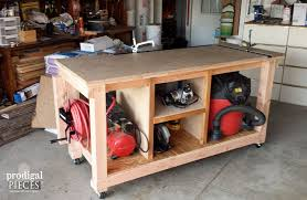 back side of diy workbench by prodigal pieces prodigalpieces com