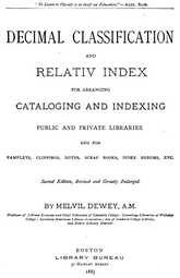 Library Of Congress Classification System Chart Dewey Decimal Classification Wikipedia
