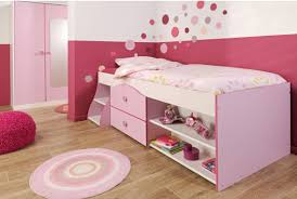 round bedroom furniture. Awesome Minimalist Girls Bedroom Furniture Design In Soft Pink Red Also White Color Combination Plus Round Wool Rug On Wooden Laminate Floor With Heart