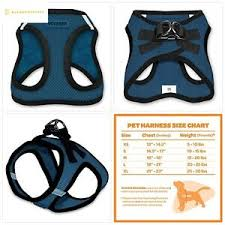Voyager Harness Size Chart Details About Voyager Step In Air Dog Harness All Weather Mesh Step In Vest Harness For Sma