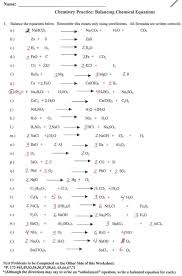 33 balancing equations worksheet