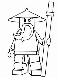 Sensei Wu Ninjago Coloring Pages For Kids Coloringstar