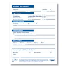 employee warning forms employee warning form disciplinary forms