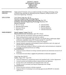 Electronic Technician Resume