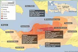 Bbc News Haiti Quake Mapping Damage Outside Capital