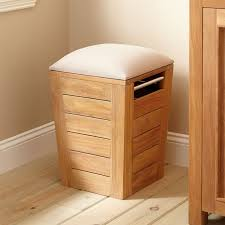 cozy oak wood stools laundry hamper with lid on cozy wooden floor for laundry room furniture