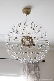 diy sputnik chandelier ikea