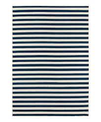 navy stripe baja indoor outdoor rug