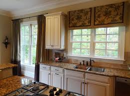 kitchen window treatments our vintage home love light green stained wall undermount kitchen sink white solid