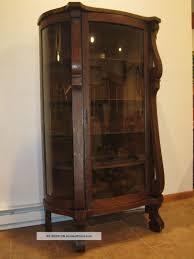 Corner Kitchen Curio Cabinet Ebert Furniture Co Antique Bowfront Oak China Curio Cabinet