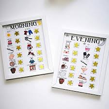 Kids Routine Charts With Magnets Morning And Evening