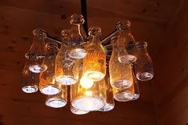 pittsford farms dairy cute chandeliers made from actual milk bottles