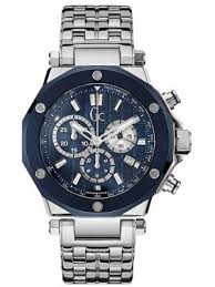 gc watches view the creative watch co range gc men s sport chic stainless steel chrono blue tinted bezel