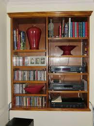 solid hardwood wall mounted shelf unit