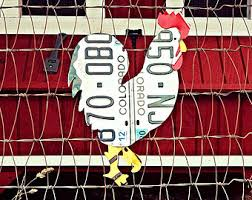 upcycled colorado license plate chicken rooster wall art coop decor on chicken coop wall art with chicken coop decor my web value