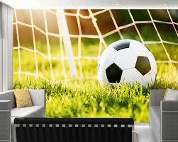 Custom Voetbal Behang Voetbal Fresco Op De Stadion Voor De Sofa Bar