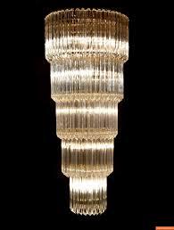 monumental camer glass chandelier