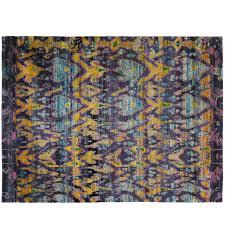 indian sari silk rug for