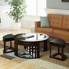 round espresso coffee table writehookstudio