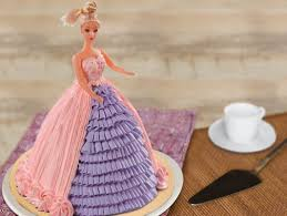 Barbie Fondant Cake Glamor In Pink Cake Bakingo