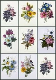 vintage flower sheets artbyjean vintage clip art digital collage sheets each with nine
