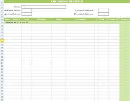 Printable Check Register For Checkbook Excel Checkbook Register Template Check Register Form Excel 2013