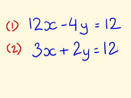 simultaneous equations example to solve 2