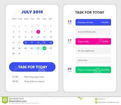 List Ux Design Calendar Ui Element Calendar App With To Do List And Tasks