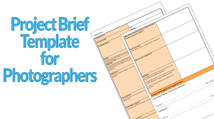 Project Brief Template Project Brief Template For Photographers 20