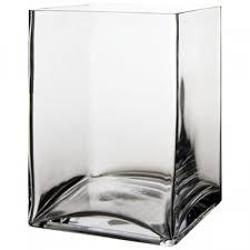 8 high end square glass vase with 6 x6
