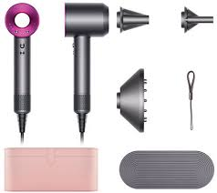 dyson hair dryer. dyson supersonic hair dryer with 3 attachments \u0026 case p