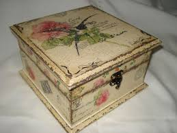 Decorating Cigar Boxes Hand made box decorated in decoupage style Decoupage 58