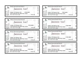 Benefit Ticket Template Benefit Dinner Ticket Template Free Word Beautiful Format