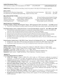 Asic Design Engineer Sample Resume 10 Mechanical