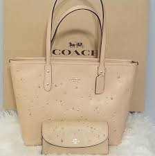 Coach Zip Tote with Celestial Studs